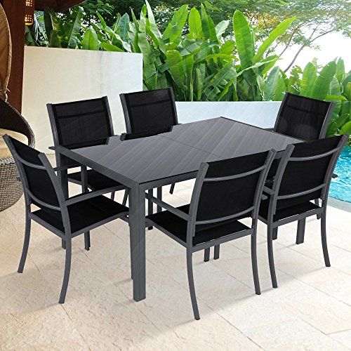 Deals For Miadomodo Garden Dining Table And Seat Chair Set