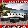 Farbwahl - 15tlg. Deluxe Lounge Garnitur Cuba Sitzgruppe Gartenmöbel Rattan Set Geflecht Polyrattan inkl. Sitzkissen von XINRO bei Gartenmöbel von Du und Dein Garten