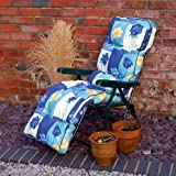 Replacement Garden Relaxer Luxury Cushion - Spring Flowers