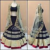 Vaankosh Fashion Womens Cotton Lehenga Choli (vnkosh26_Free Size_Navy Blue)