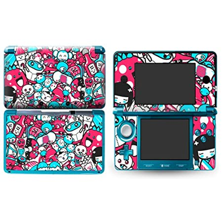 DOLLS Design Nintendo 3D 3DS Vinyl Skin Decal Sticker Protector (Matte Finish)+ Free Screen Protector Set