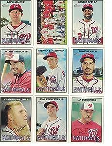 Washington Nationals / 2016 Topps Heritage Baseball Team Set. FREE 2015 Topps Nationals Team Set WITH PURCHASE!