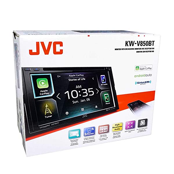 JVC KW-V850BT Compatible with Android Auto/Apple CarPlay CD/DVD Stereo/Bluetooth