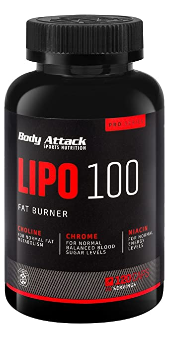 Body Attack LIPO 100 Fat Burner, 120 Kapseln, 1er Pack (1 x 102 g)