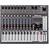 Webetop EM12 12 Channel 16 DSP Professional Audio Mixer with USB