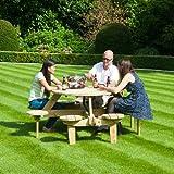 Farmhouse Picknick-Tisch mit 8 Sitzen aus Kiefer