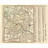 Historische Karte: Amt Dresden mit den Ämtern Moritzburg, Radberg, Dippoldiswalde und Lausnitz, um 1750 (Plano...