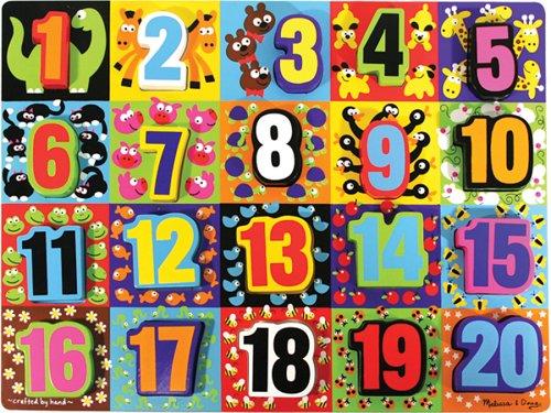Melissa & Doug Jumbo Numbers Wooden Chunky Puzzle