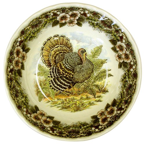 Buy Churchill China Thanksgiving Turkey Multi Colors Cereal Bowls, Set of 4