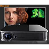 4K Video Projector,Deeirao GT918 Mini DLP Home Theater Projector Support 2160P 1080P 1280x800 Native Resolution Full HD Android5.1OS 2D Convert to 3D USB HDMI VGA Bluetooth4.0 Black (Color: Black)
