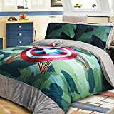 Luk Oil Home Textile,Camouflage Personalized Fashion Bedding Set Camouflage Warm Thicken Duvet Covers Coral Fleece Bed Sheets Personalized Design King Size, 4Pcs