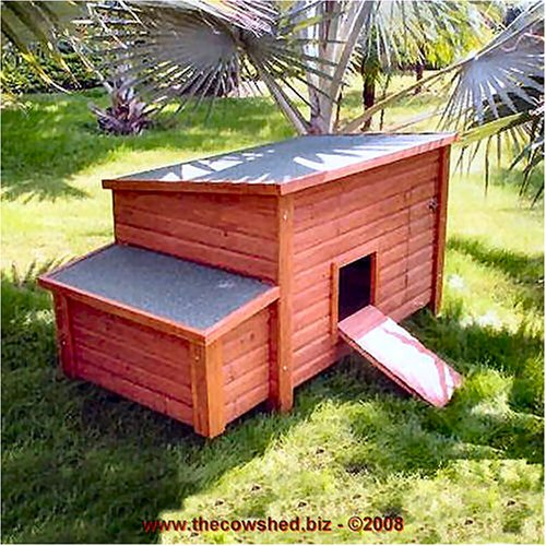Wooden Chicken Coop House and Ramp
