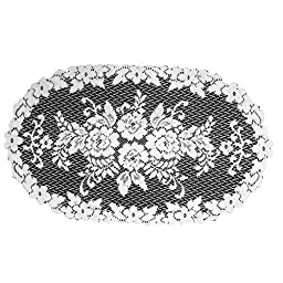 Heritage Lace Victorian Rose 13-Inch by 24-Inch Doily, Ecru, Set of 2