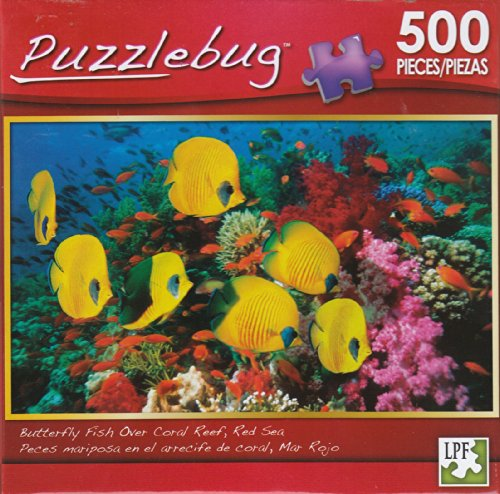 Puzzlebug 500 - Butterfly Fish, Coral Reef - 1