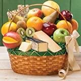 Stew Leonards - Jumbo Cheese & Fruit Basket