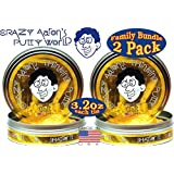 "Crazy Aarons Thinking Putty Hannukkah ""Gelt"" With Real Gold Holiday Gift Set Bundle Family Pack 2 Pack (Limited..."