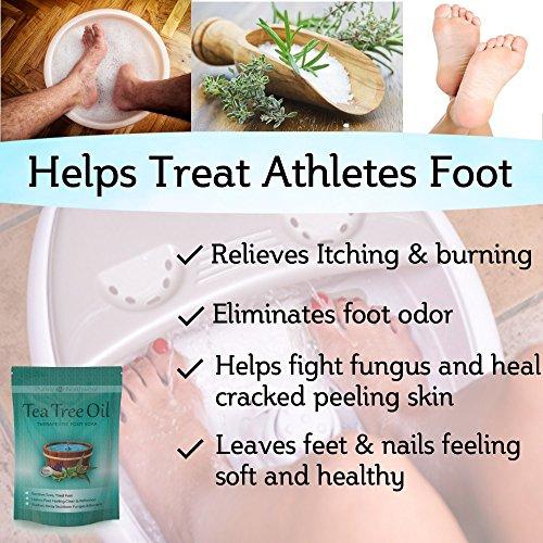 Tea Tree Oil Foot Soak With Epsom Salt Helps Treat Nail
