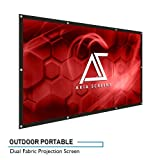 "Akia Screens Indoor Outdoor Portable Projector Screen, 120 inch Diagonal 16:9, Anti-Crease Foldable Dual Front Rear Retractable 120"" Projection Screen DIY Hang Anywhere, AK-DIYOUTDOOR120H (Tamaño: 120 inch)"