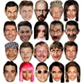 CELEBRITY FACE PARTY MASK FANCY DRESS HEN STAG DO BIRTHDAY MASKS FUN NEW NIGHT (DEL BOY)