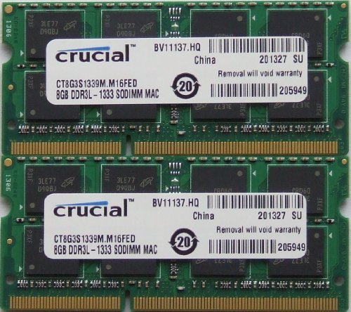 Ram memory upgrades 16GB kit (8GBx2) DDR3 PC3 10600 1333Mhz for latest 2011 Apple iMac's , Macbook Pro's and Mac Mini's (Mac Mini I5 Quad Core compare prices)