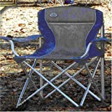 Amazon Com Fold Amp Go Oversized Folding Chair Blue