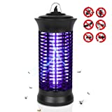 Eocol Mosquito Killer Lamp, Bug Zapper Flying Insect Catcher Killer Pest Repeller Light Lamp Trap Hook Indoor Outdoor - Black Upgrade