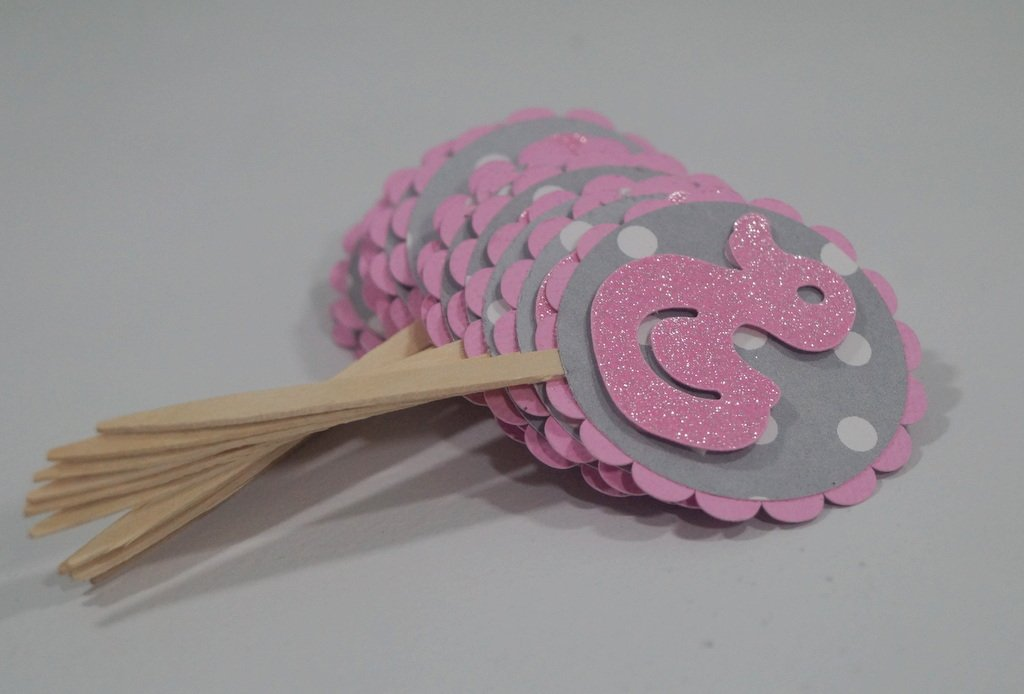 Baby Shower Cupcake Picks Decoration : Girl Baby Shower Cupcake Toppers Baby Shower Mania