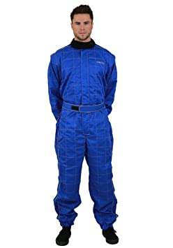 NERVE 1551020216_03  Race 450D Combinaison Karting Combi Kart, Bleu, Taille M