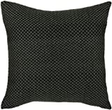 Rizzy Home T-3693 18-Inch by 18-Inch Decorative Pillows, Gray/Black, Set of 2