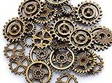 歯車パーツ 【金古美 30個アソート】アンティークゴールド 福袋 レジン チャーム 素材 材料