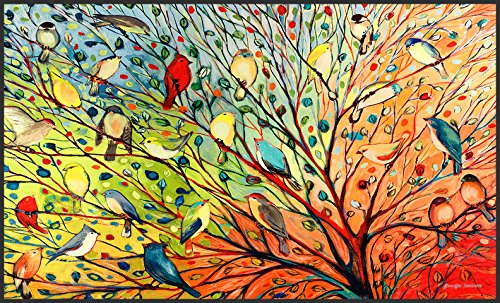 Toland Home Garden Tree Birds 18 x 30-Inch Decorative USA-Produced Standard Indoor-Outdoor Designer Mat 800038