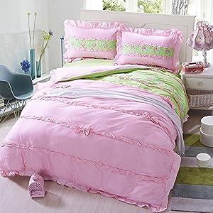 sweet dream green bedding girls bedding princess bedding teen bedding full size. Black Bedroom Furniture Sets. Home Design Ideas