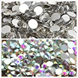 Kamas 10Bags/Lot super glitter rhinestones Crystal AB Color ss3-ss50 Non HotFix FlatBack Nail Art Rhinestones,nail art decorations - (Color: Clear ss3-ss30 10000) (Color: Clear ss3-ss30 10000)