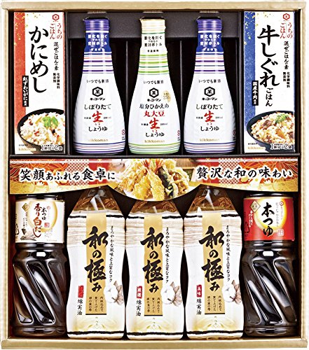 Kikkoman raw soy sauce-0 - out rice-0 - cottonseed oil set