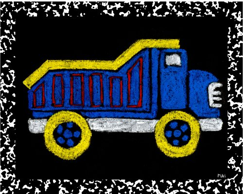 Green Frog Art Wall Decor, Dump Truck - Recess II