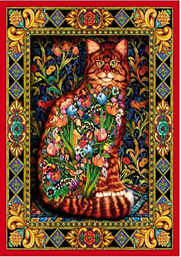 Wentworth Tapestry Cat 250 Piece Wooden Lewis T. Johnson Jigsaw Puzzle