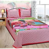 The Intellect Bazaar Cotton Double Bedsheet With Pillow Covers