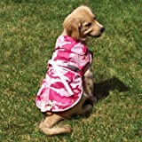 Zack & Zoey Medium Pink Camo Dog Rain Coat Fits Dogs 22 - 32 Lbs