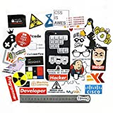365Cor - 40 PCS Developer Docker Hacker CSS Programmer SQL Funny Bicycle Stickers for PC Mobile Phone Decoration