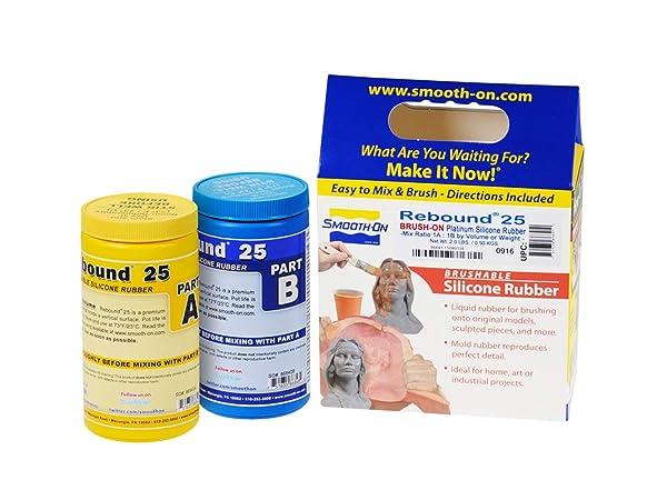 Smooth-On Rebound 25 Brush On Trial Unit Platinum Silicone Moldmaking Rubber (Color: Orange, Tamaño: 2 Pint Kit)