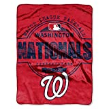 The Northwest Company MLB Washington Nationals Structure Micro Raschel Throw, 46-Inch by 60-Inch
