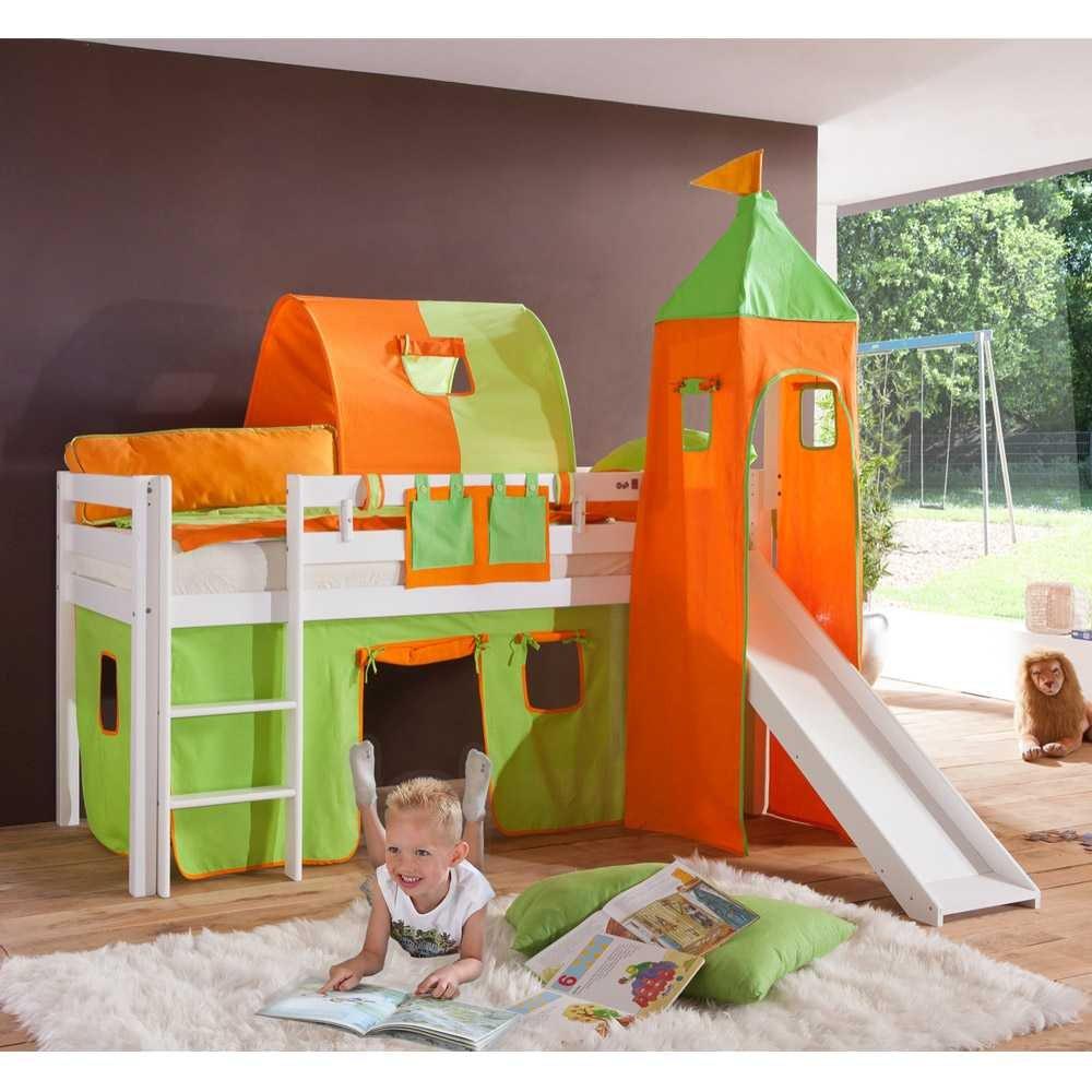 Kinderbett Jula mit Rutsche Pharao24