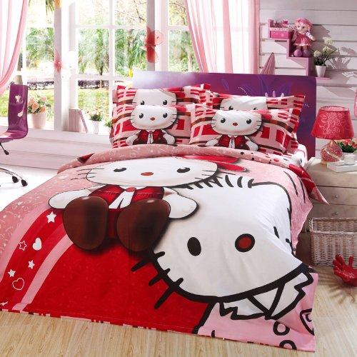 hello kitty queen size bedding set queen size cute cartoon bedding set