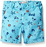 The Children's Place Boys' Printed Flat Front Shorts, Gulfstream, 18-24 Months