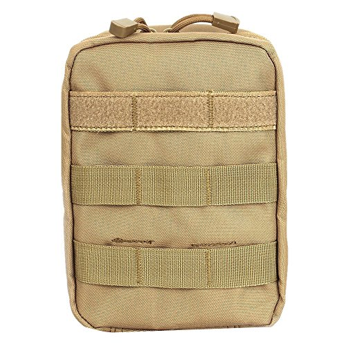 Compact Tactical MOLLE EMT Medical First Aid Utility Pouch Bag (TAN) (Out The Front Knife Double Edge compare prices)