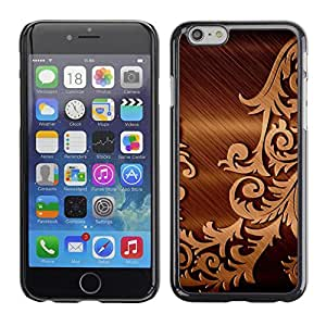 Omega Covers - Snap on Hard Back Case Cover Shell FOR Iphone 6/6S (4.7 INCH) - Brushed Metal Floral Pattern