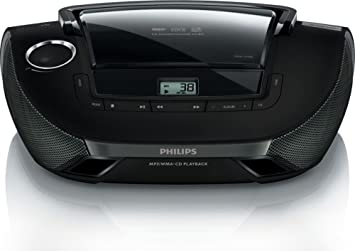 Philips AZ1837/55 CD Player Boombox Sound Machine AM/FM Radio Stereo Speaker System with USB/AUX at amazon