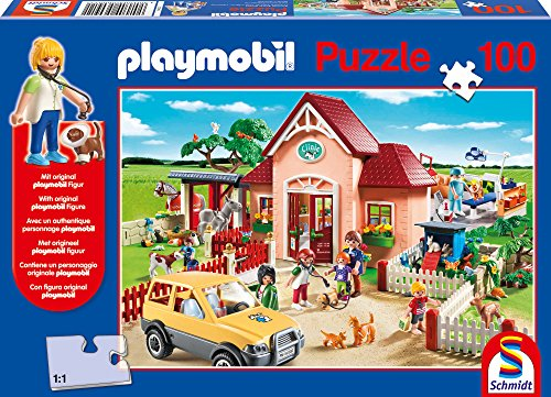 SCHMIDT Play Mobil at The Vet Children's Puzzle (100-Piece)
