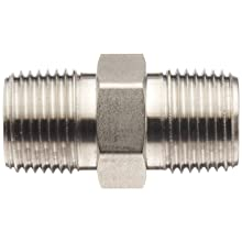 Brennan Stainless Steel Pipe Fitting, Hex Nipple, NPT Male