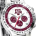 Texas A&M University Aggies Men's Stainless Steel Chronograph Collector's Watch by The Bradford Exchange
